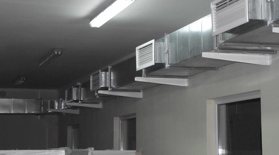Монтаж систем приточно вытяжной вентиляции
